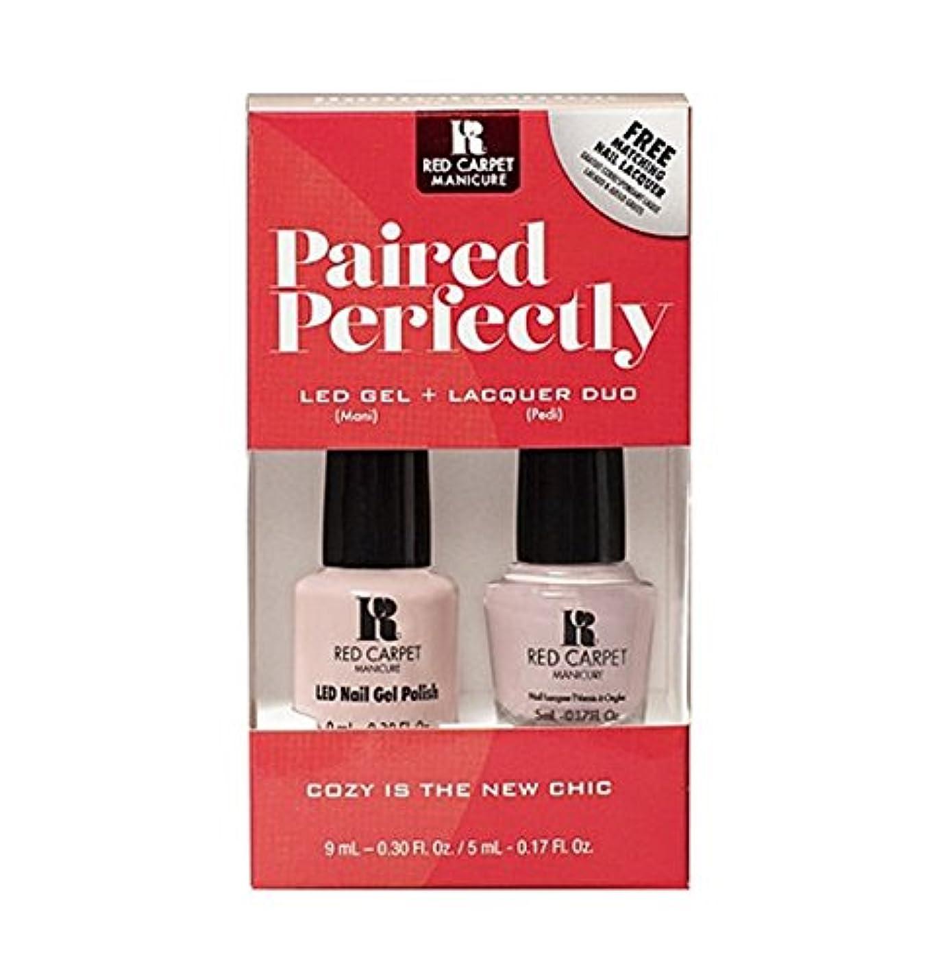 靴下賛辞研磨Red Carpet Manicure - Paired Perfectly GEL & Lacquer DUO - Cozy Is the New Chic