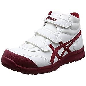[アシックスワーキング] 安全/作業靴 作業靴 ウィンジョブCP302 ホワイト/バーガンディ 26 cm