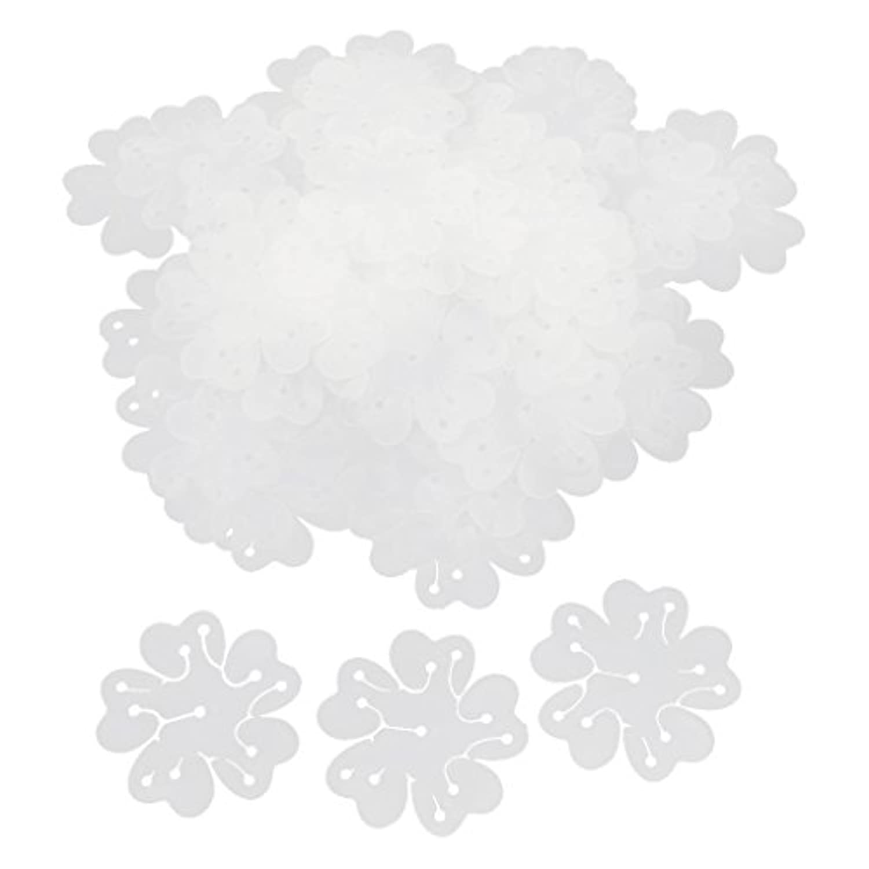 Lovoski 約50pcs パーティー 装飾 花の形 風船 バルーン用 固定 クリップ ネクタイ 留め具