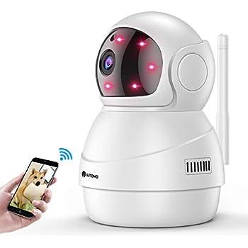 【最新改良版】 ネットワークカメラ wifi 小型 監視カメラ 1080P 200万高画素 ドーム型 防犯カメラ 双方向音声 遠隔操作 暗視撮影 屋内 ベビー ペット 子供 見守り 老人等留守番 スマホ iPhone/iPad/パソコン 日本語アプリ対応 日本語説明書付き(ホワイト)