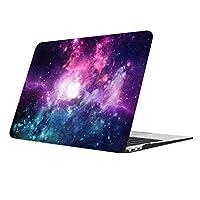 DAZZME New MacBook Air 13カバー2018発売 MacBook Air 13インチケース 人気2018 パソコンカバー 丈夫なゴム足 13インチハードケース Retina & Touch ID 搭載(対応モデルA1932)紫の星空
