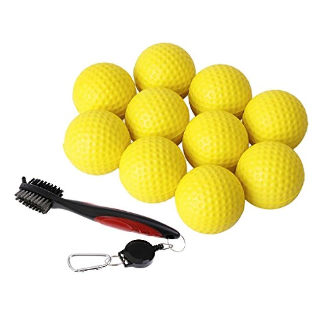 クレタソロ不潔Toygogo 10のPUの泡の柔らかいゴルフボールが付いているゴルフクラブブラシそしてクラブ溝の洗剤