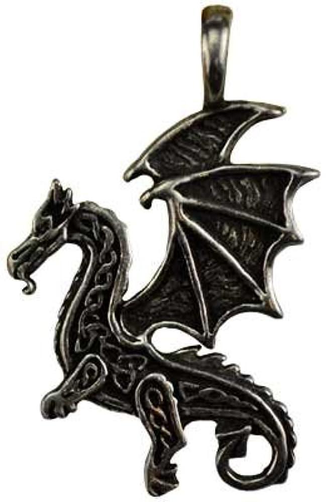 代わりにジョージバーナード放棄ケルトFlying Dragon保護アミュレットネックレス