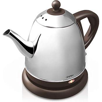 dretec(ドリテック) 電気ケトル ステンレス コーヒー ドリップ ポット 細口 湯沸かし 0.8L PO-115BRDI (ブラウン)