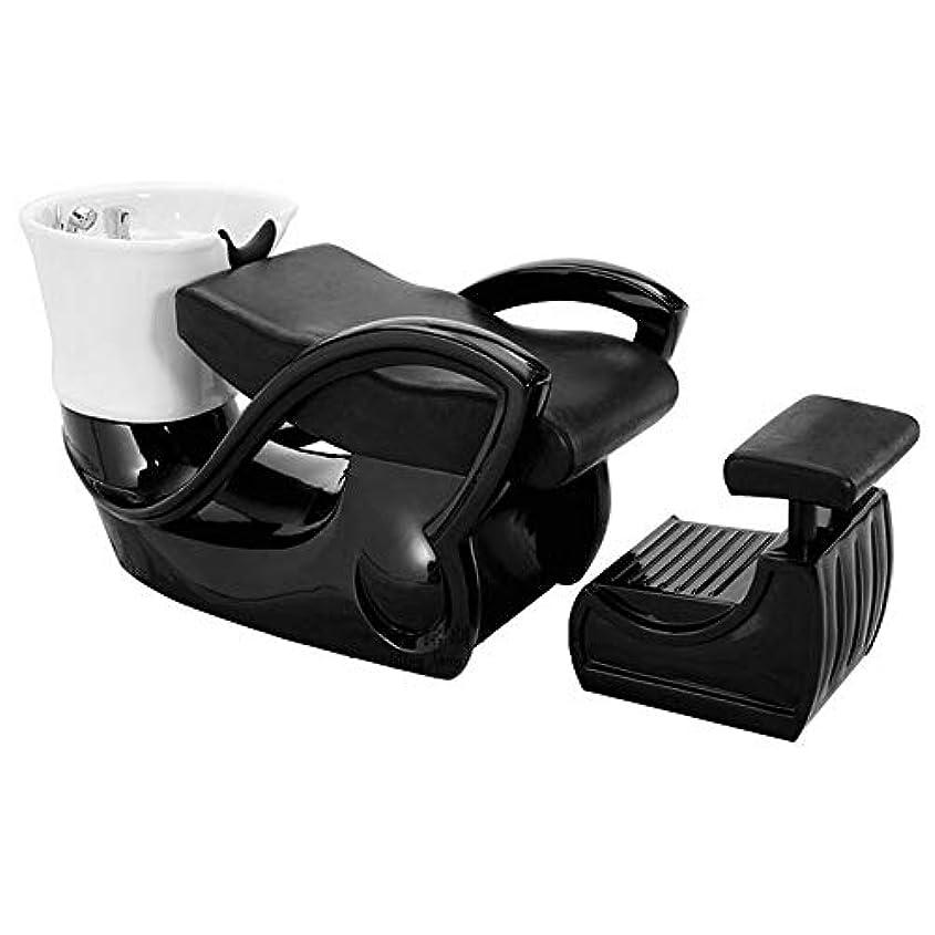 緩む犯すデコラティブシャンプーの椅子、鉱泉の大広間装置の陶磁器の深い洗面器のシャンプーのベッドのための逆洗の単位のシャンプーボールの理髪の流しの椅子