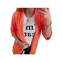 Nicellyer Women's Fall Winter Luxury Long Sleeve Pure Color Pocket Blazer Jacket 1 L