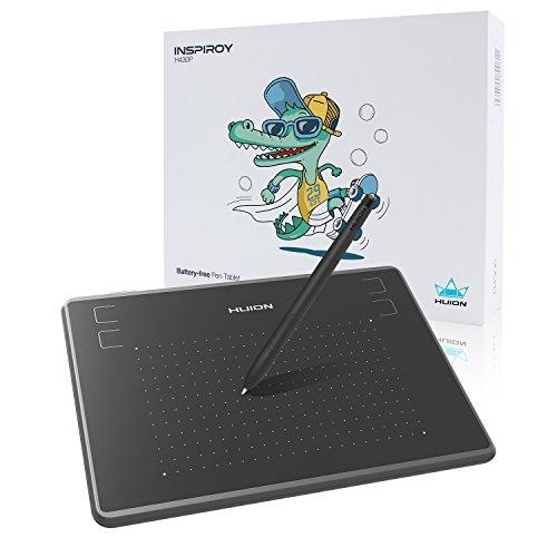 HUIONペンタブレット H430P 4.8*3インチイラスト入門用、 4096レベル筆圧バッテリーフリーペン OSUゲーム用