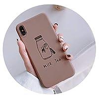 漫画フルーツパターンカップルの超薄型ミルクティー電話ケース、iPhone X XS MAX XR 8 7プラス6 6 sプラスのために,3,iPhoneXSMAXの場合
