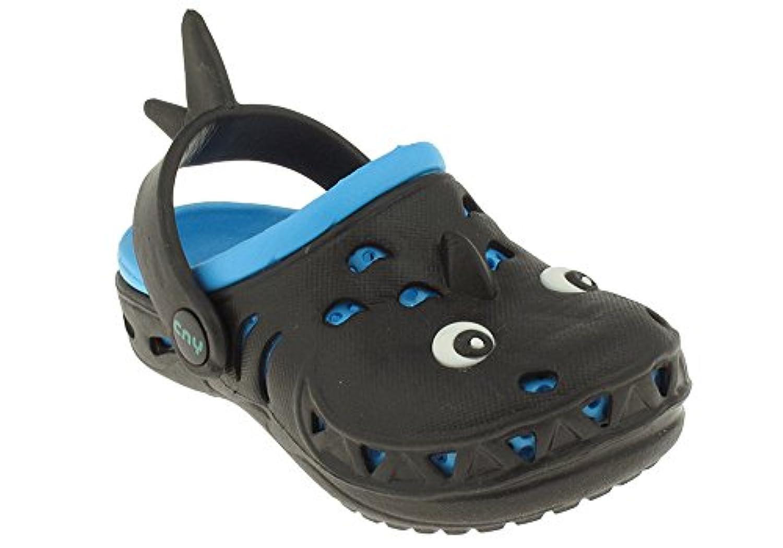 Capelli新しいYork Toddler Boys Land Shark Clog with Backストラップ