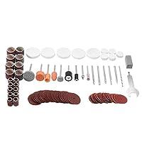 ランフィー 105pcs マルチロータリーツールアクセサリーセット研削研磨ドレメのためのドリルキット