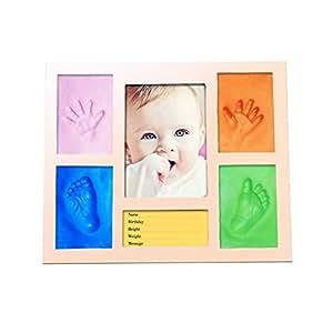 MIRACLE 手形 フォトフレーム スタンド 思い出 赤ちゃん 記念写真 粘土 足形 インテリア 贈り物 記念 MC-MEMOFRM