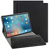 iPad Pro 11インチ キーボードケース 2018最新版iPadケース ペンを付き キーボードカバー Bluetooth 対応 多角度調整 日本語説明書付着 脱着式 by EBEAUTYDAY (ブラック)