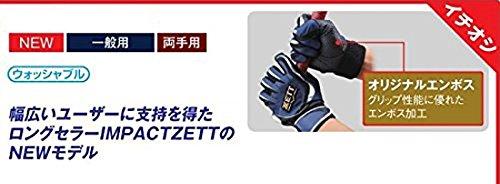 ZETT(ゼット) 野球 バッティング グローブ インパクトゼット (両手用) BG997 ネイビー/シルバー M