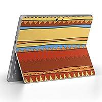 Surface go 専用スキンシール サーフェス go ノートブック ノートパソコン カバー ケース フィルム ステッカー アクセサリー 保護 チェック・ボーダー 赤 レッド 模様 007122