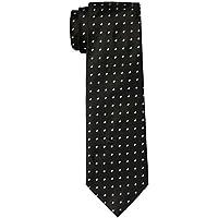Van Heusen Men's Circle Dobby Tie, Black