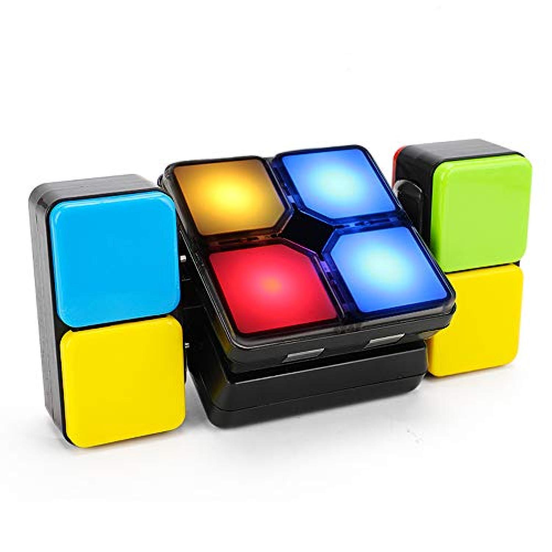 マジックミュージックキューブ - エレクトリック?バラエティー?キューブ 音楽ライト付き 親子の交流玩具 創造的なパズルおもちゃ 子供と子供の音楽アクティビティ用