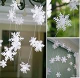 雪飾り 雪結晶型 ガーランド 3m [並行輸入品]