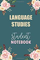 Language Studies Student Notebook: Notebook Diary Journal for Non-Profit Management  Major College Students University Supplies