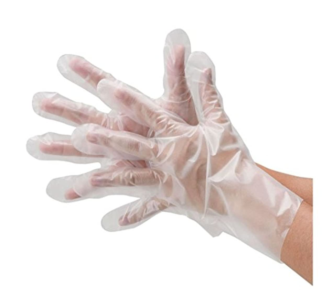 ヒット警告する建てる川西工業 ポリエチレン手袋 フィットタイプ 外エンボス 100枚入 #2014 クリア L