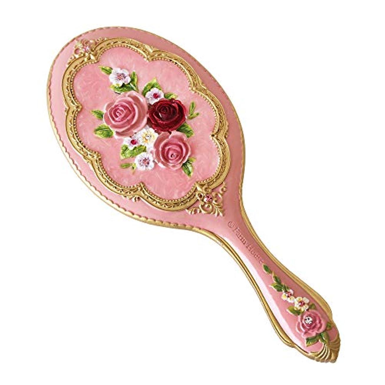 醜い到着に沿ってハンドミラー ロイヤルローズ 手鏡 ピンク