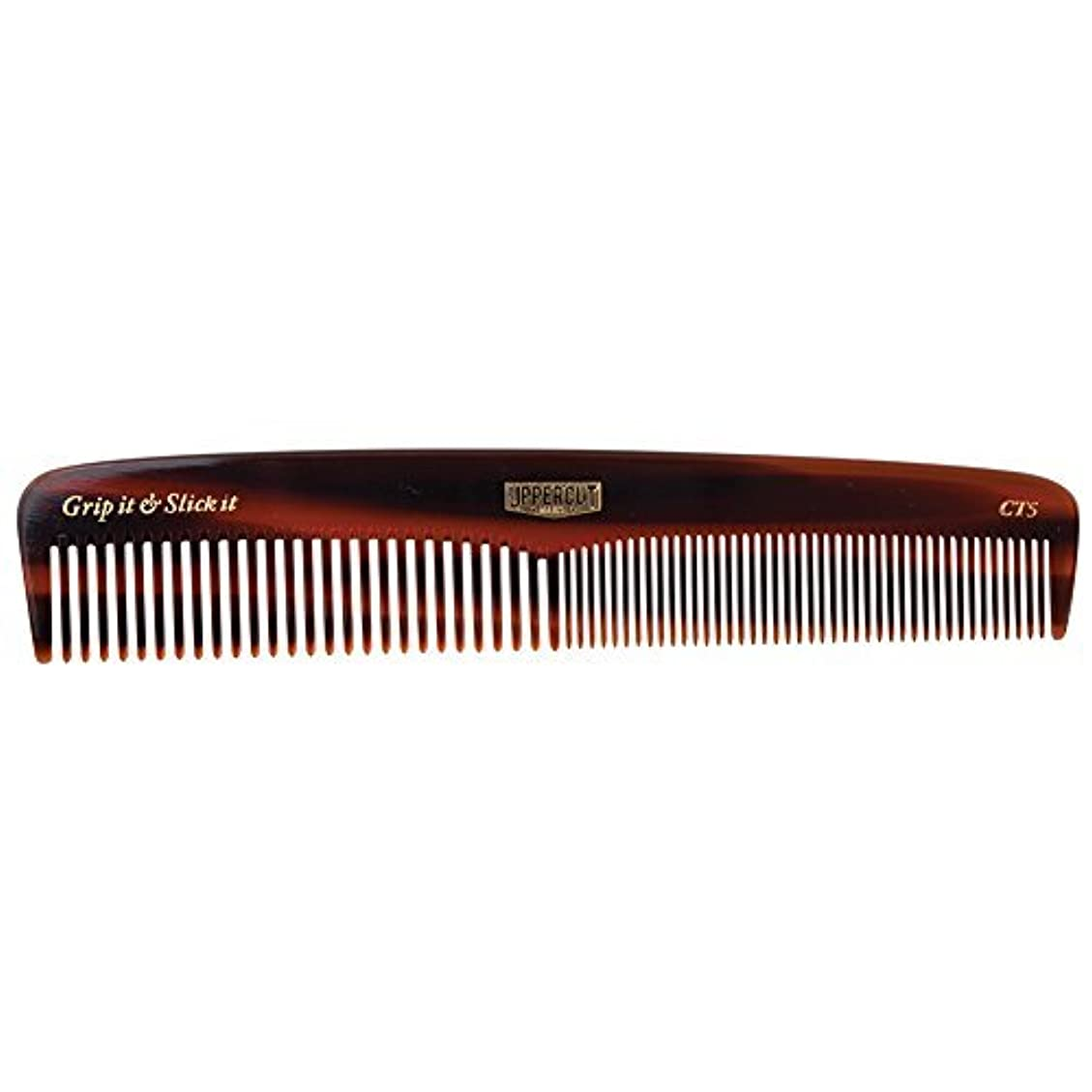 戦争ページラボUppercut Deluxe CT5 Tortoise Shell Comb - Easy to Use, Pocket Sized - Grip It & Slick It [並行輸入品]