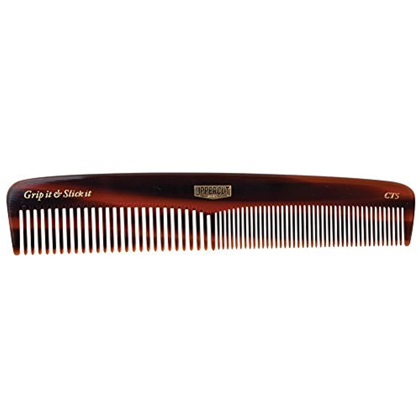 Uppercut Deluxe CT5 Tortoise Shell Comb - Easy to Use, Pocket Sized - Grip It & Slick It [並行輸入品]