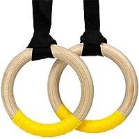 ロリア?ジャパン(LORIAJP) 体操吊り輪 バーチ木製体操吊り輪 運動道具 リングベルトトレーニング 筋力強化 家庭用 体を鍛える
