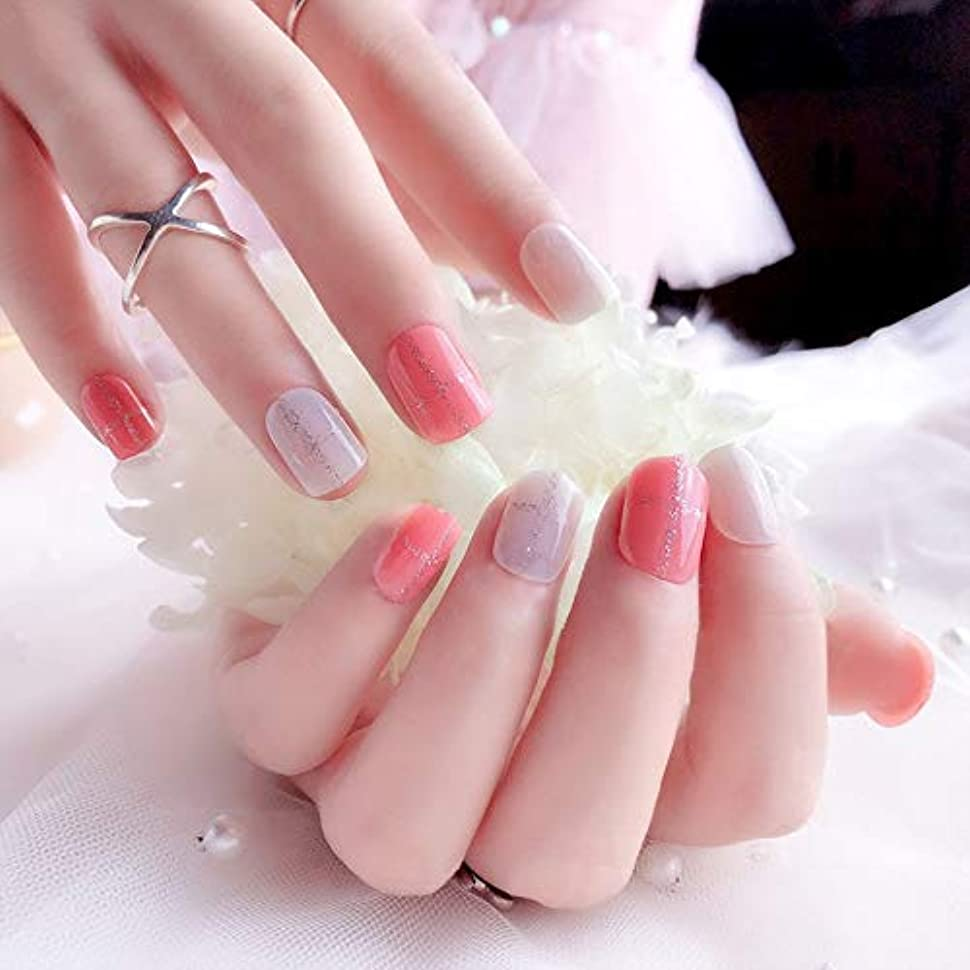AAcreatspaceファッション花嫁偽爪光線療法偽爪かわいい偽爪ショートサイズレディフルネイルのヒントQ10