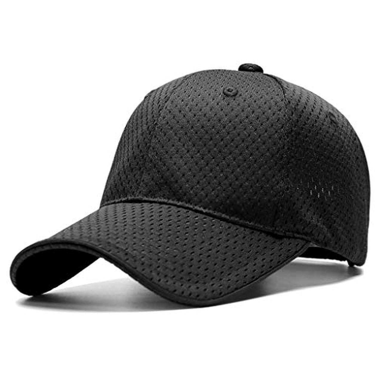 引き金コック行日よけ帽 太陽の帽子男性夏フルメッシュ通気性ヘッド円周野球帽日焼け止めバイザーキャップファッショントレンド ZHAOSHUNLI (Color : Black, Size : L (55-58cm))