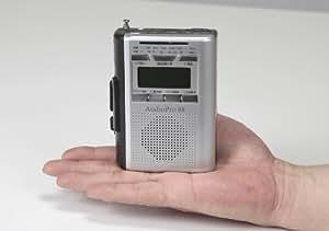IC録音機能付き カセットレコーダー【語学練習に/最大480秒のIC録音機能付】【F-318】