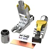 LINKUP - [GHMT & DSX8000 Certified] Cat8 Ethernet Cable Connector (6-Pack) RJ45 Metal Tool Free Easy Termination Plug | for 2