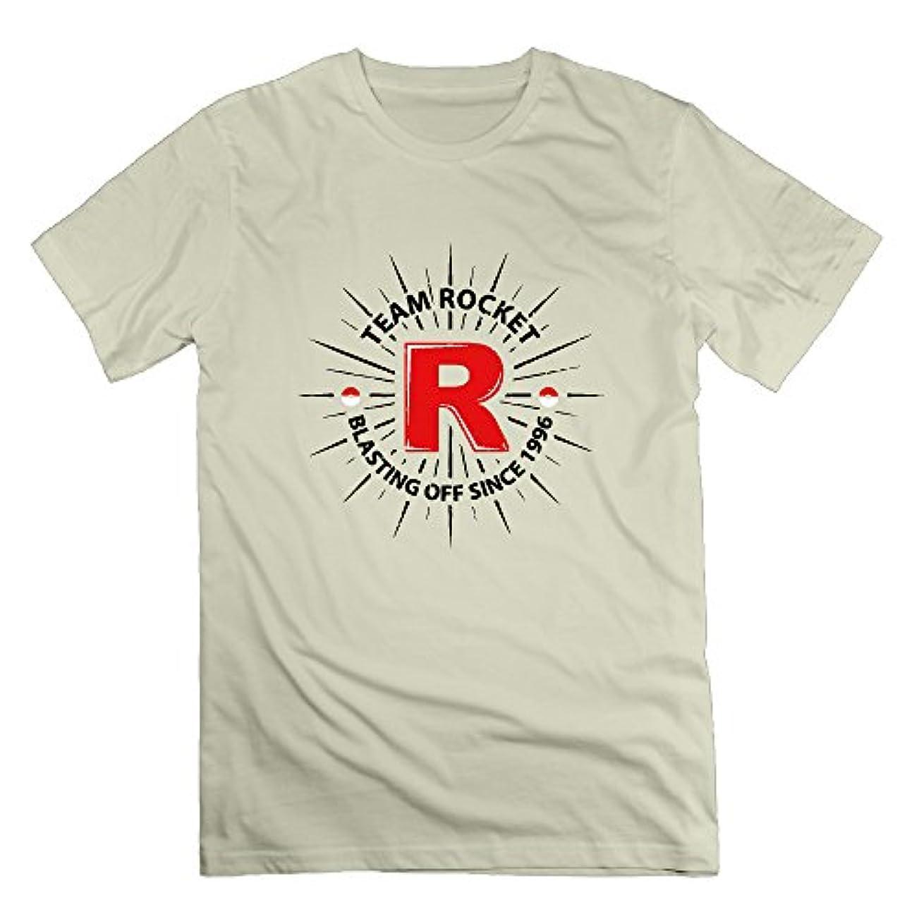一般意味のある擬人化Wolf Blood メンズ 半袖Tシャツ カッコいいデザイン R ロケット 光 キラキラ スター 人気 グッズ B系 オリジナル TEE カラー豊富