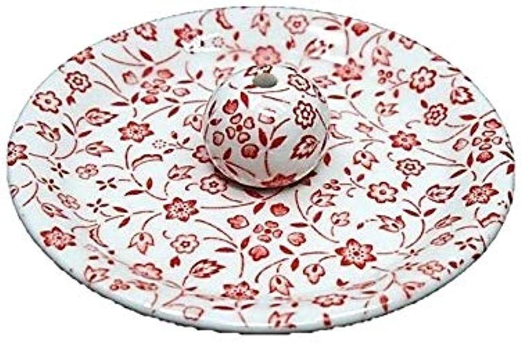 復活させるテクニカル9-20 赤小花 9cm香皿 お香立て お香たて 陶器 日本製 製造?直売品
