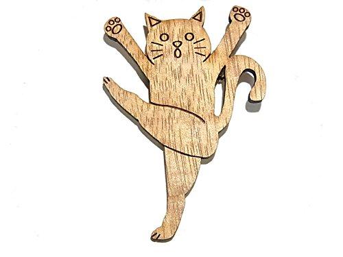 """[해외]루찌카 Luccica """"체조 고양이 브로치""""고양이 고양이 액세서리 고양이 동물 귀여운 개성적인 재미 상품 모티브 키즈 우드/Lucca Luccica `Gymnastics Cat Brooch` Cat Cat Accessory Cat Animal Cute Personality Funny Goods Motif Kids W..."""