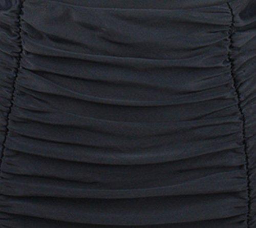 iBaste レディース 可愛いハイウエスト水着 チェック柄 ギャザータック 水泳セパレーツ 海水浴 ショーツ ビキニブリーフ 女性ビキニ水着 タンキン ビーチウェア セパレート