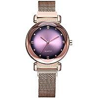 007XIXI Watches for Women Large Wrist Clearance Fashion Starry Sky Noctilucent Watch Mosaic Diamond Quartz Mesh Belt Lady Watch