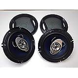 【エスティーエスミチコ】車載用 16cm コアキシャル 3WAY ハイパワー スピーカー MAX 400W 2個セット TS-A1671E (04 MAX400W 2個セット)