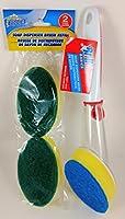 BrilloスクラブSponges with soap-dispensingハンドル