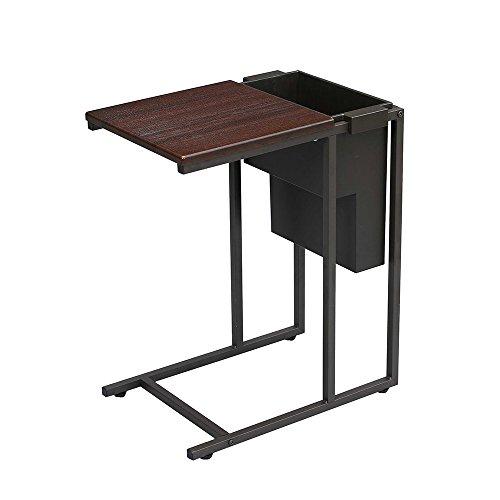 サイドテーブル ブラウン 収納付 幅45×奥行31.5×高さ55cm GST4530PBR