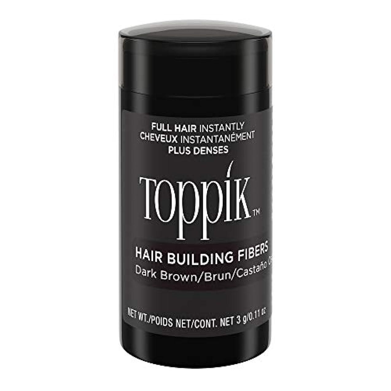 フェリー損なう補助金Toppik Hair Building Fibers - Dark Brown 0.09 oz. small travel size by Spencer Forrest