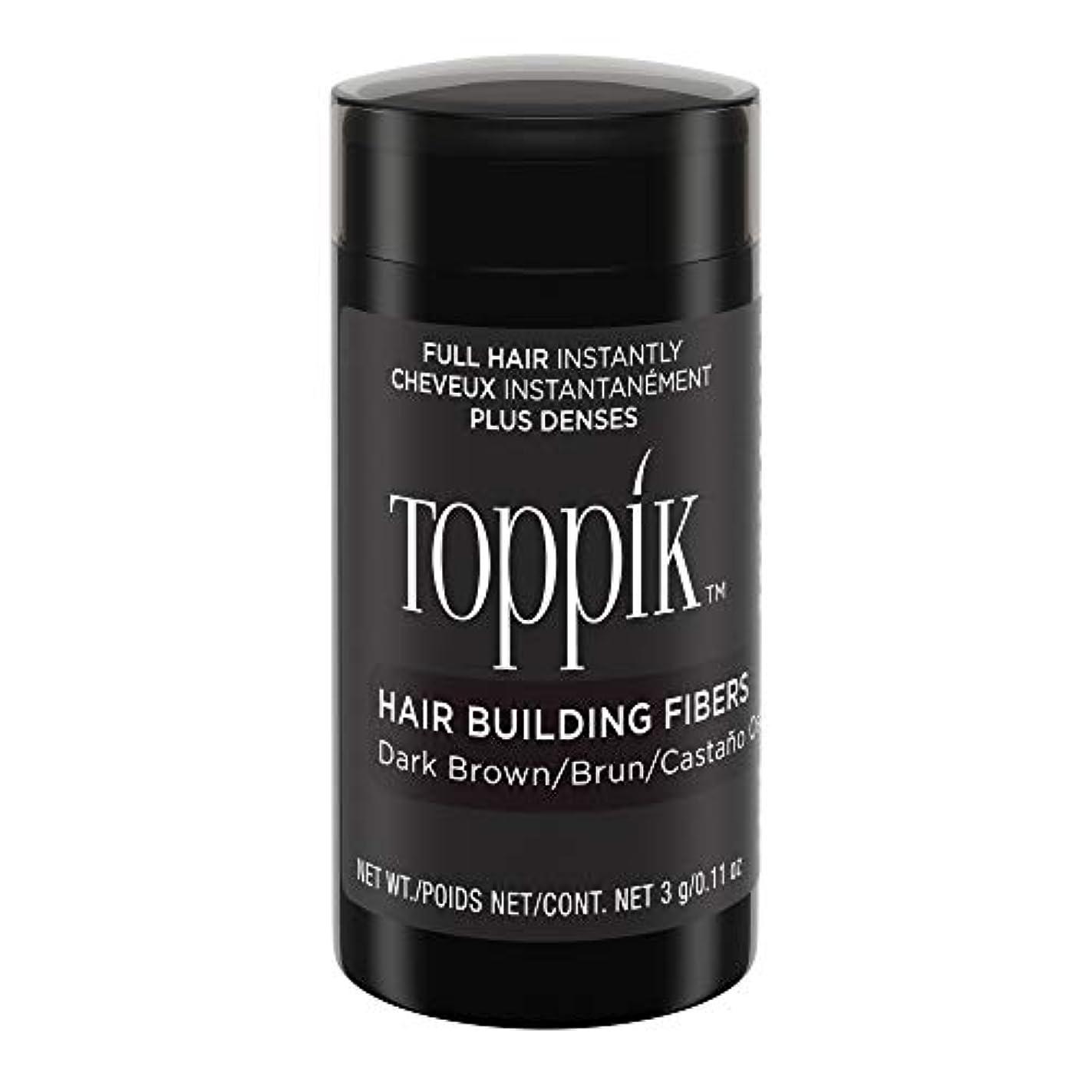 提供するフォージ寛容なToppik Hair Building Fibers - Dark Brown 0.09 oz. small travel size by Spencer Forrest