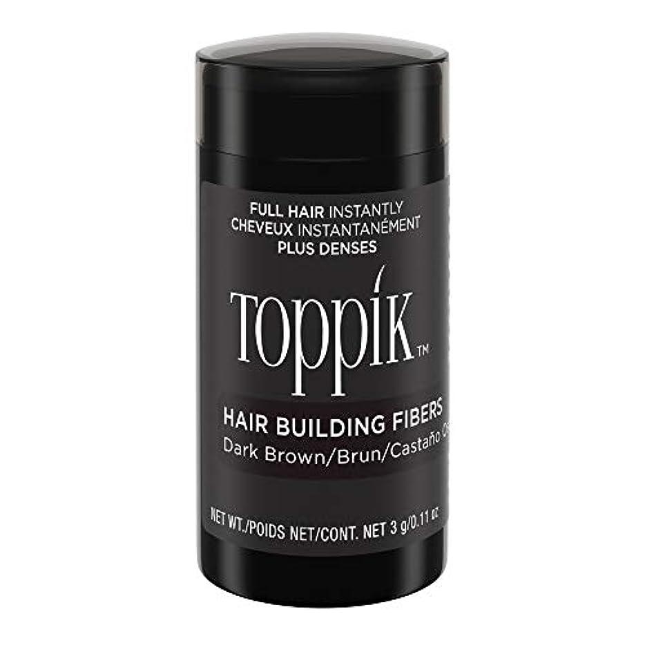 エミュレーション衝突するひいきにするToppik Hair Building Fibers - Dark Brown 0.09 oz. small travel size by Spencer Forrest