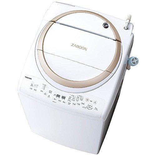 東芝 タテ型洗濯乾燥機 ZABOON 9kg サテンゴールド AW-9V6 N