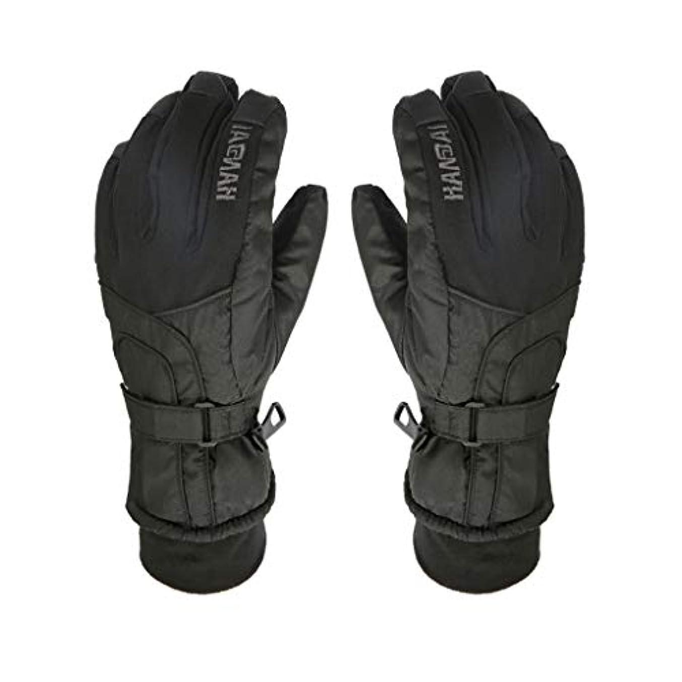 警察遡るコールドYHDD 暖かい手袋男性と女性の冬の防水アウトドアスキー手袋厚手のオートバイ電気自動車の綿手袋を乗る