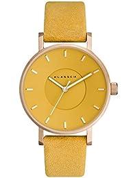 [クラス14] KLASSE14 腕時計 Miss Volare Mustard 36mm ローズゴールド × イエロー × スエード レザー レディース 交換用ベルトセット [並行輸入品]
