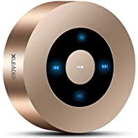 【LEDタッチ操作】Bluetooth スピーカー XLeader 高音質 ブルートゥース スピーカー 【3Dステレオサラウンド / 12時間連続再生 / Bluetooth 4.2 / 内蔵マイク搭載 / Micro SDカード】(ゴールド)