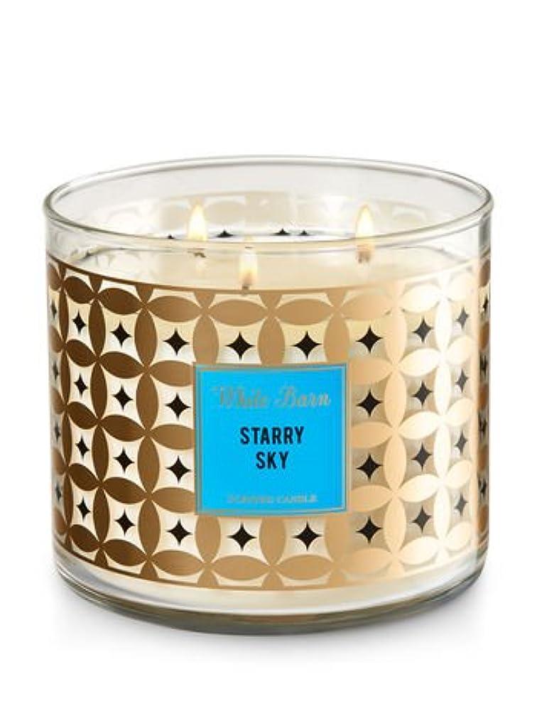 ホワイトバーンBath & Body Works Candle 3 Wick 14.5オンスStarry Sky