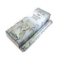 ★浄化用★HEM ホワイトセージ香 スティックタイプ 20本入り×6箱セット