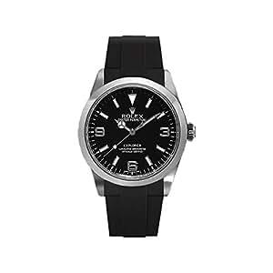 [ラバービー] RubberB ラバーベルト ROLEX エクスプローラーI(39mm/2010年以降モデル対応)専用ラバーベルト(尾錠付き)(ブラック)※時計は付属しません(Watch is not included)[並行輸入品]