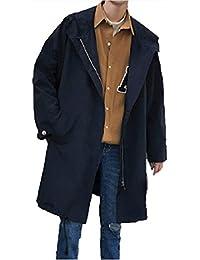 [Nana_Collection(ナナコレクション)] 春 メンズ 男性 長袖 コート ジャケット ひざ丈 羽織 カジュアル おしゃれ シンプル ブラック M